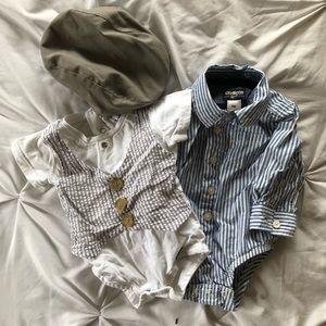 Sunday best onesies for size 6 month ( BOGO)